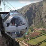 Skylodge Adventure Suites on a cliff in Peru