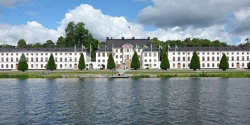 Stockholm palace from the water