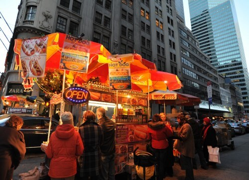 hot dog vendors, New York city