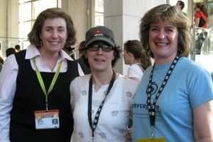 SXSWi travel geeks: Wendy Perrin, Pam Mandel and Sheila Scarborough (photo courtesy Sheila Scarborough)