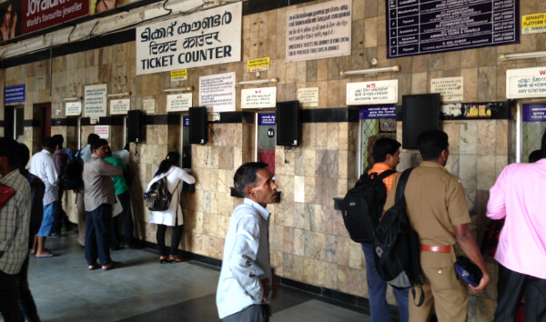 Ticket Counter at Thiruvananthapuram Central