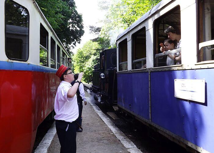 Childrens train Budapest with a local guide on a tour
