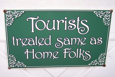 Sign at the tourism office in downtown Mount Dora, Florida (Scarborough photo)