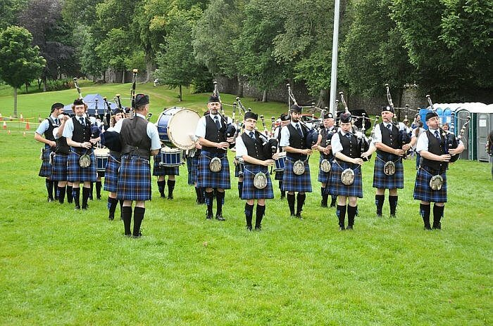 pipe band green klit scotland piping