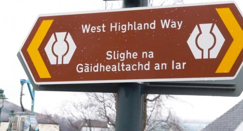 scotland west highland way sign in gaelic and english copyright kerry dexter